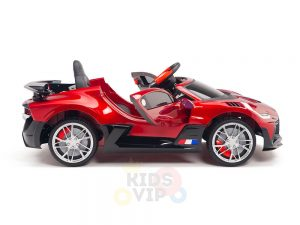 kidsvip buggati divo kids and toddlers ride on car sport 12v leather seat rubber wheels rc red 23