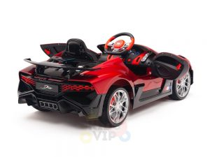 kidsvip buggati divo kids and toddlers ride on car sport 12v leather seat rubber wheels rc red 24