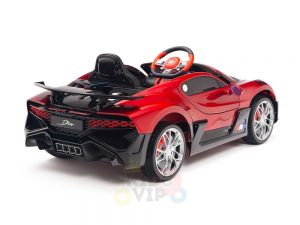 kidsvip buggati divo kids and toddlers ride on car sport 12v leather seat rubber wheels rc red 25
