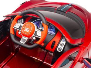 kidsvip buggati divo kids and toddlers ride on car sport 12v leather seat rubber wheels rc red 26