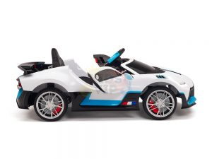 kidsvip buggati divo kids and toddlers ride on car sport 12v leather seat rubber wheels rc white 1