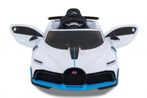kidsvip buggati divo kids and toddlers ride on car sport 12v leather seat rubber wheels rc white 14