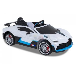 kidsvip buggati divo kids and toddlers ride on car sport 12v leather seat rubber wheels rc white 15