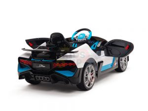 kidsvip buggati divo kids and toddlers ride on car sport 12v leather seat rubber wheels rc white 2