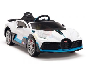 kidsvip buggati divo kids and toddlers ride on car sport 12v leather seat rubber wheels rc white 22