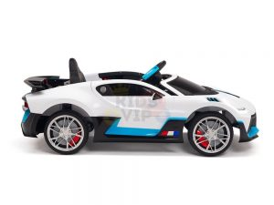 kidsvip buggati divo kids and toddlers ride on car sport 12v leather seat rubber wheels rc white 24