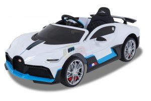 kidsvip buggati divo kids and toddlers ride on car sport 12v leather seat rubber wheels rc white 7