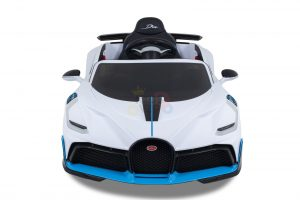 kidsvip buggati divo kids and toddlers ride on car sport 12v leather seat rubber wheels rc white 8