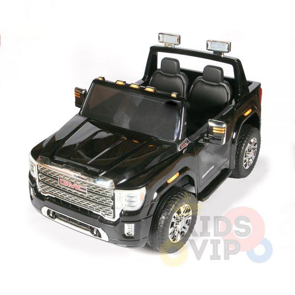 kidsvip gmc sierra kids ride on car 12v rubber wheels leather seat 2 seater red white black blue pink 1 1