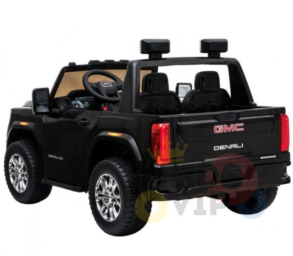 kidsvip gmc sierra kids ride on car 12v rubber wheels leather seat 2 seater red white black blue pink 10 1