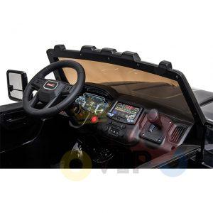 kidsvip gmc sierra kids ride on car 12v rubber wheels leather seat 2 seater red white black blue pink 11