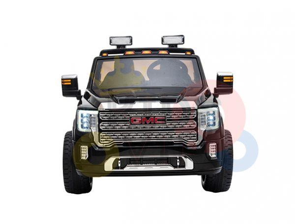kidsvip gmc sierra kids ride on car 12v rubber wheels leather seat 2 seater red white black blue pink 12