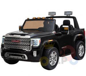 kidsvip gmc sierra kids ride on car 12v rubber wheels leather seat 2 seater red white black blue pink 13 1