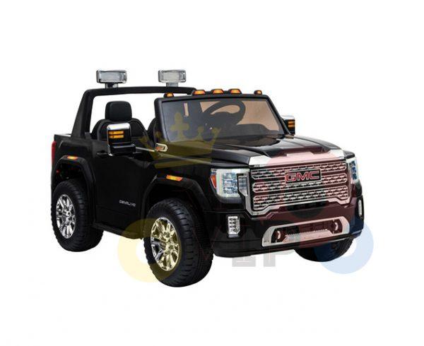 kidsvip gmc sierra kids ride on car 12v rubber wheels leather seat 2 seater red white black blue pink 14