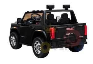 kidsvip gmc sierra kids ride on car 12v rubber wheels leather seat 2 seater red white black blue pink 17