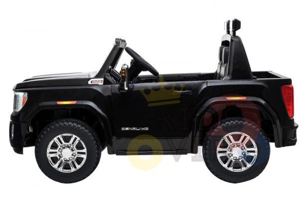 kidsvip gmc sierra kids ride on car 12v rubber wheels leather seat 2 seater red white black blue pink 18