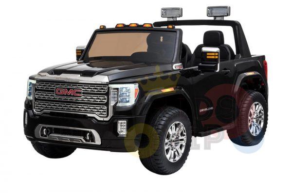 kidsvip gmc sierra kids ride on car 12v rubber wheels leather seat 2 seater red white black blue pink 19 1