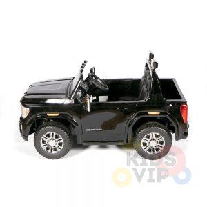 kidsvip gmc sierra kids ride on car 12v rubber wheels leather seat 2 seater red white black blue pink 2