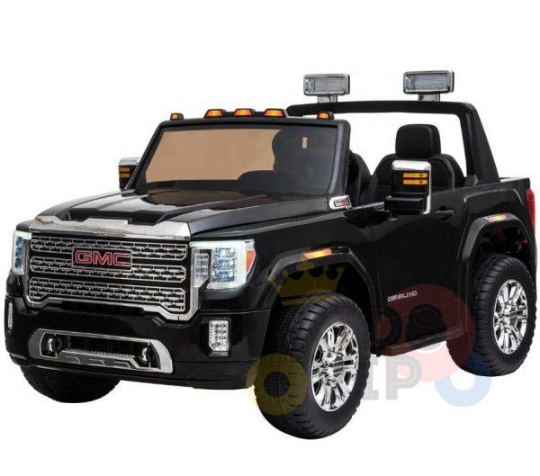 kidsvip gmc sierra kids ride on car 12v rubber wheels leather seat 2 seater red white black blue pink 20 1