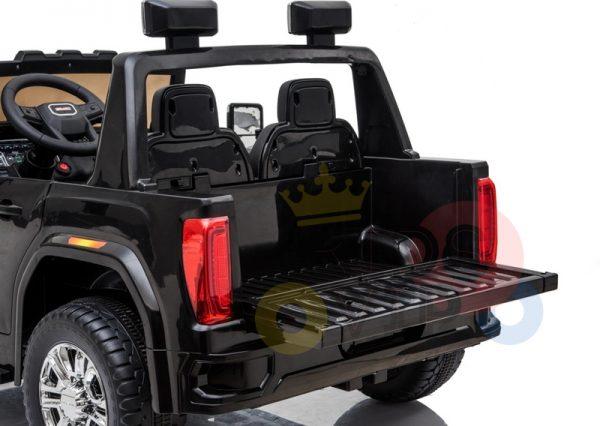 kidsvip gmc sierra kids ride on car 12v rubber wheels leather seat 2 seater red white black blue pink 21 1