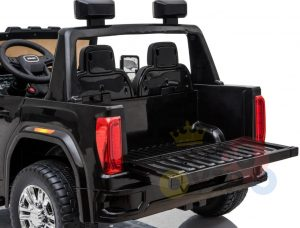 kidsvip gmc sierra kids ride on car 12v rubber wheels leather seat 2 seater red white black blue pink 23 1