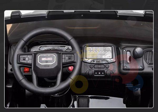kidsvip gmc sierra kids ride on car 12v rubber wheels leather seat 2 seater red white black blue pink 26