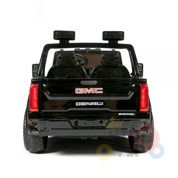 kidsvip gmc sierra kids ride on car 12v rubber wheels leather seat 2 seater red white black blue pink 28
