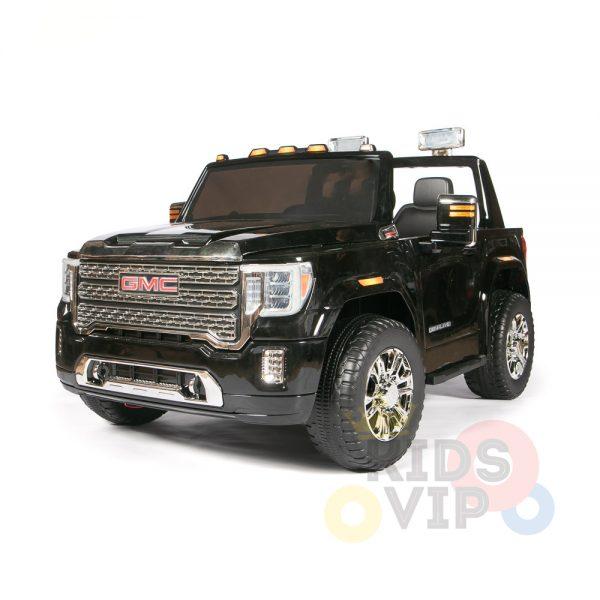 kidsvip gmc sierra kids ride on car 12v rubber wheels leather seat 2 seater red white black blue pink 32 1