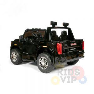 kidsvip gmc sierra kids ride on car 12v rubber wheels leather seat 2 seater red white black blue pink 4 1