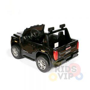 kidsvip gmc sierra kids ride on car 12v rubber wheels leather seat 2 seater red white black blue pink 5 1