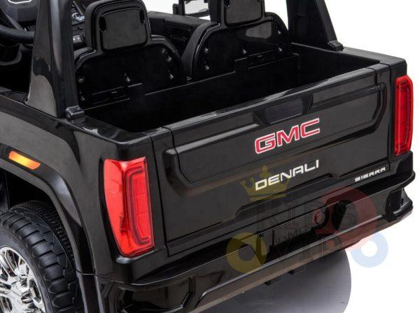 kidsvip gmc sierra kids ride on car 12v rubber wheels leather seat 2 seater red white black blue pink 9