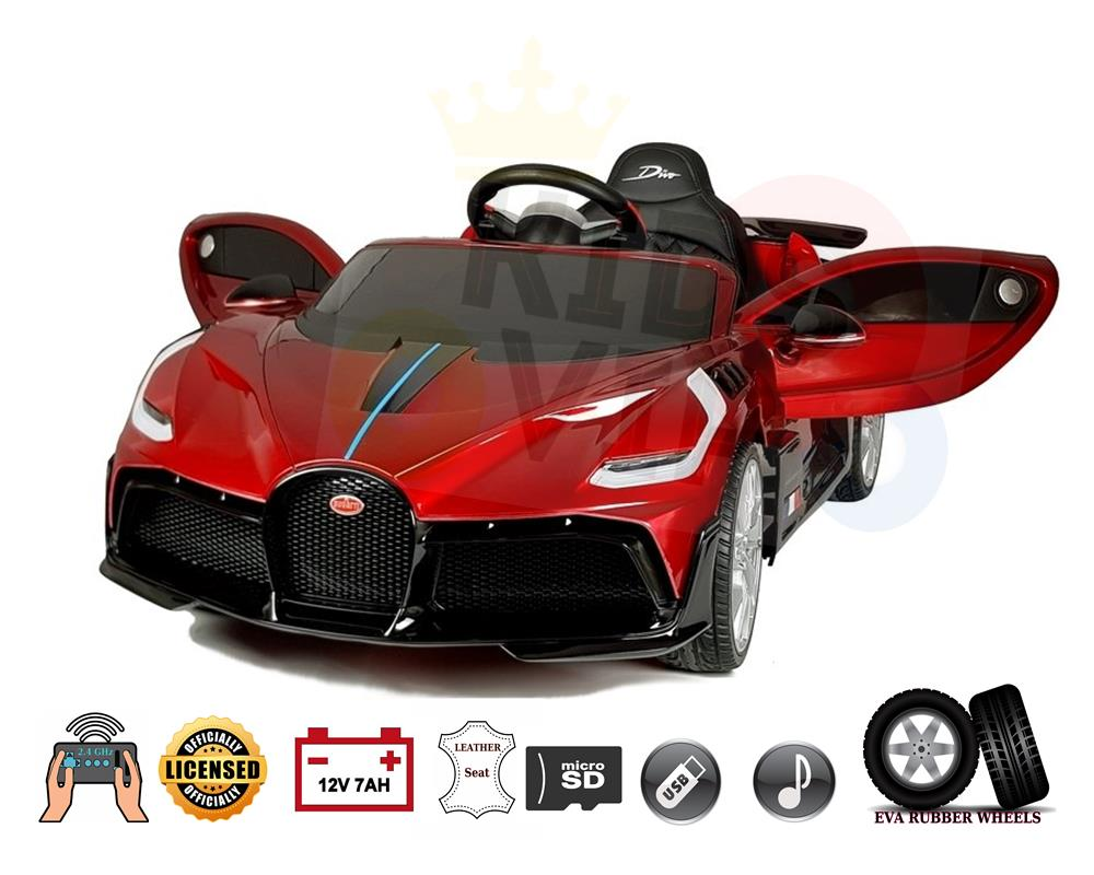 Licensed Limited Edition Bugatti Divo 12v Kids Ride on Car With RC