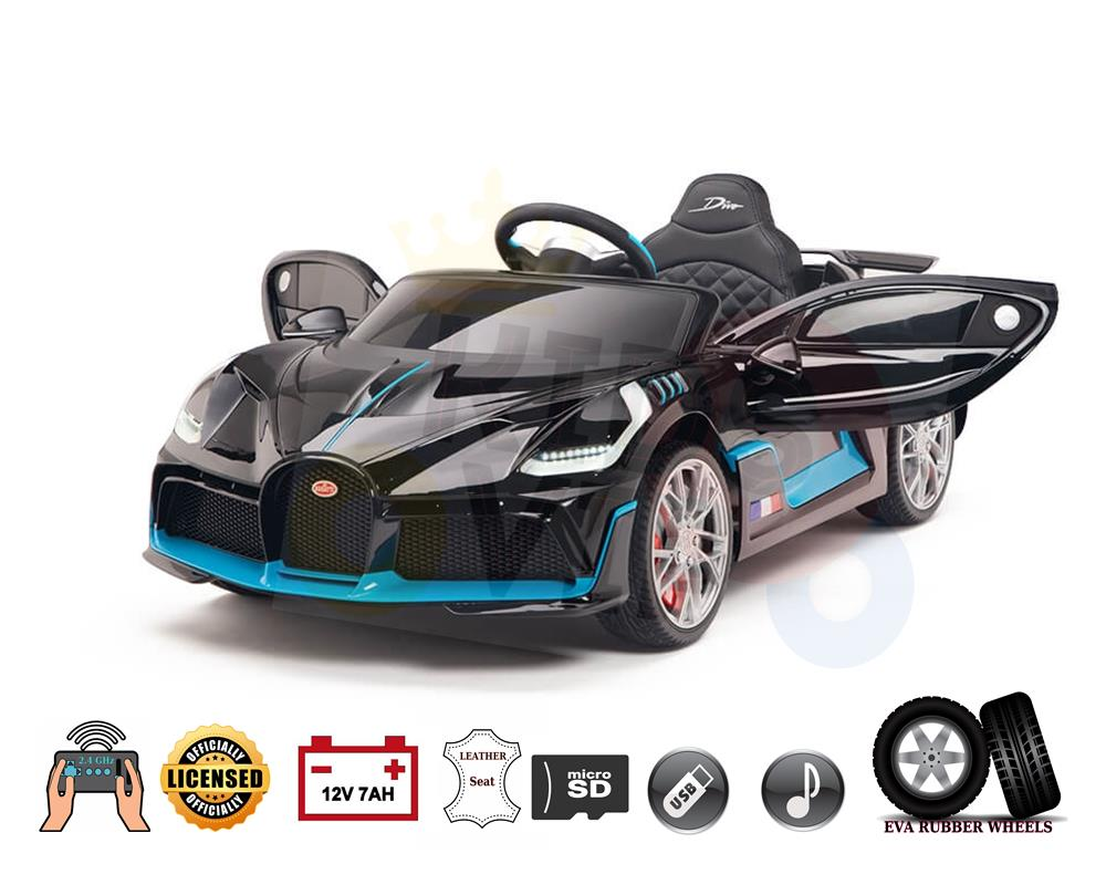 Licensed Limited Editin Bugatti Divo 12v Kids Ride on Car With RC