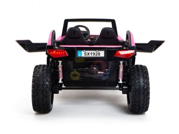 kids vip dune buggy challenger 24v sx1928 ride on kids 2 seater pink 9