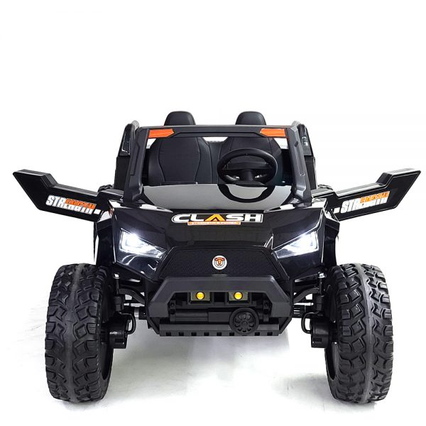 kidsvip dune buggy challenger 24v sx1928 ride on kids and toddlers rubber leather black 15 1