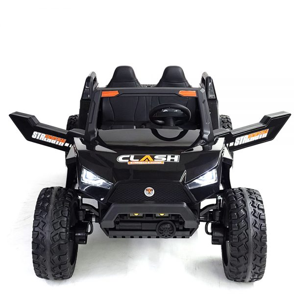 kidsvip dune buggy challenger 24v sx1928 ride on kids and toddlers rubber leather black 16 1