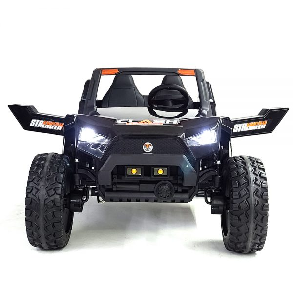 kidsvip dune buggy challenger 24v sx1928 ride on kids and toddlers rubber leather black 17 2