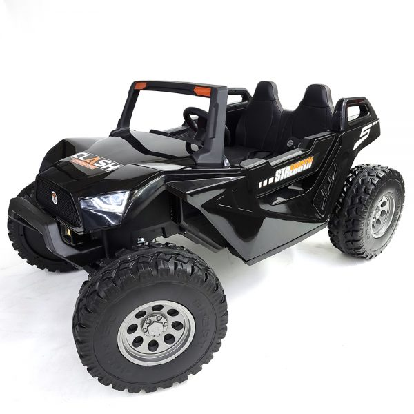 kidsvip dune buggy challenger 24v sx1928 ride on kids and toddlers rubber leather black 24