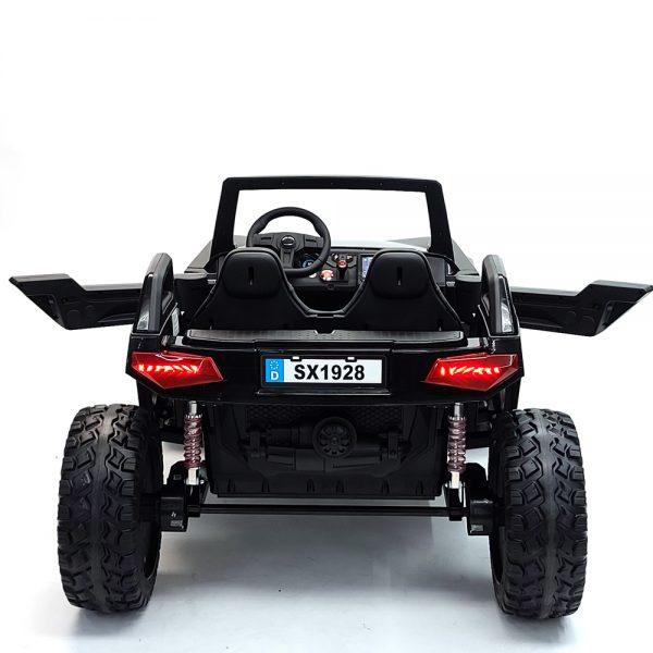 kidsvip dune buggy challenger 24v sx1928 ride on kids and toddlers rubber leather black 5