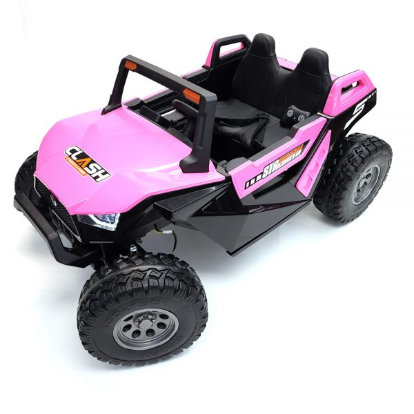 kidsvip dune buggy challenger 24v sx1928 ride on kids and toddlers rubber leather pink 10 1
