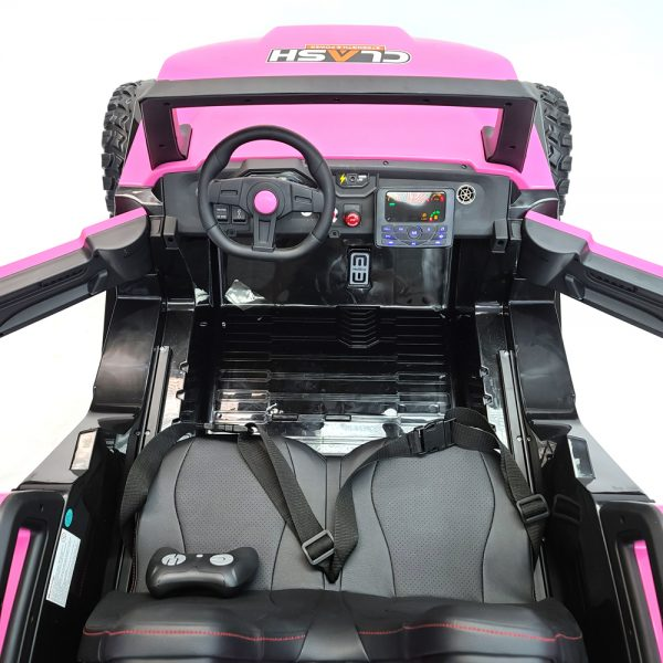 kidsvip dune buggy challenger 24v sx1928 ride on kids and toddlers rubber leather pink 20
