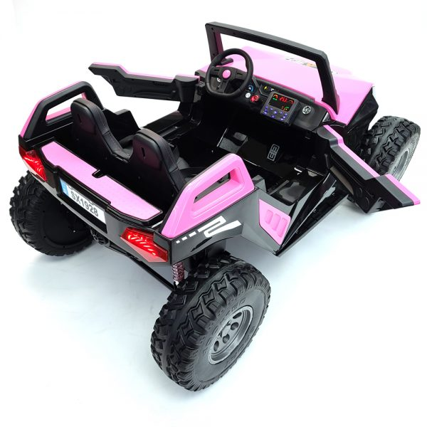 kidsvip dune buggy challenger 24v sx1928 ride on kids and toddlers rubber leather pink 22