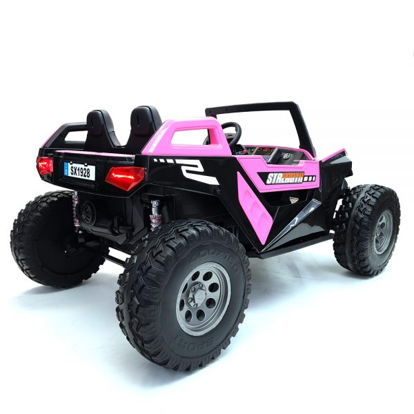 kidsvip dune buggy challenger 24v sx1928 ride on kids and toddlers rubber leather pink 27