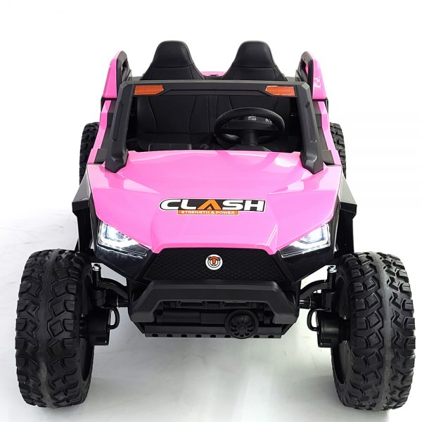 kidsvip dune buggy challenger 24v sx1928 ride on kids and toddlers rubber leather pink 6 1