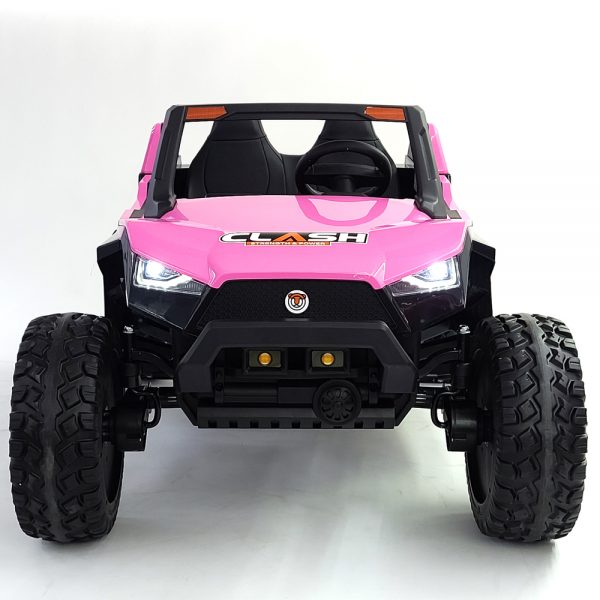 kidsvip dune buggy challenger 24v sx1928 ride on kids and toddlers rubber leather pink 7 1