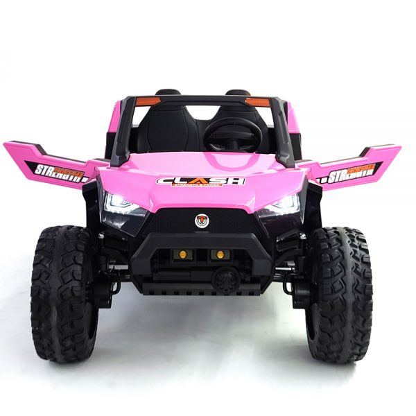 kidsvip dune buggy challenger 24v sx1928 ride on kids and toddlers rubber leather pink 8 1