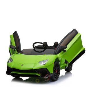 kidsvip lamborghin sv ride on car GREEN 12V REMOTE CONTROL 12
