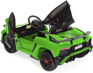 kidsvip lamborghin sv ride on car GREEN 12V REMOTE CONTROL 8