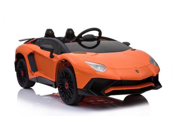 kidsvip lamborghini 12v kids and toddlers ride on car leather seat remote lambo orange 11