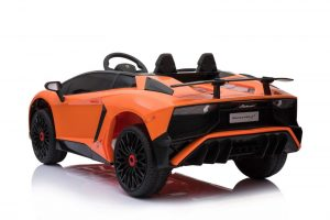 kidsvip lamborghini 12v kids and toddlers ride on car leather seat remote lambo orange 7